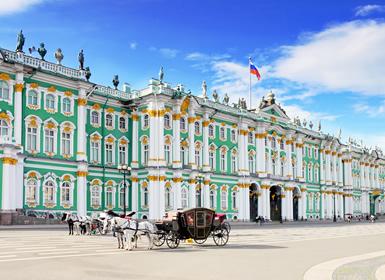 Viajes Rusia 2019-2020: Circuito Moscú y San Petersburgo tren diurno