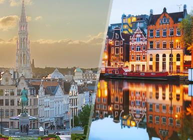 Viajes Holanda, Bélgica y Países Bajos 2019-2020: Bruselas y Ámsterdam en avión