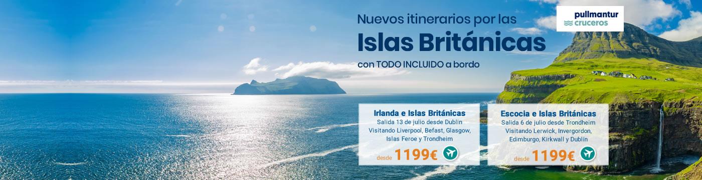 Cruceros Islas Británicas 2019