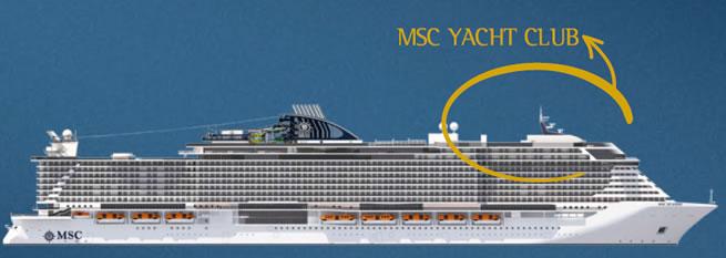 Perfil de cubiertas del MSC Seaside