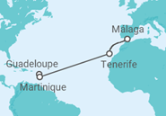 Itinerario del Crucero España, Martinica, Guadalupe - Costa Cruceros