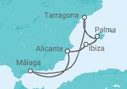 Itinerario del Crucero Islas Baleares - Pullmantur