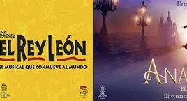 Musical El Rey León y Anastasia