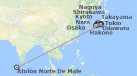 Chollos viajes ultimo minuto a Japón e Islas del Índico: Japón y Maldivas