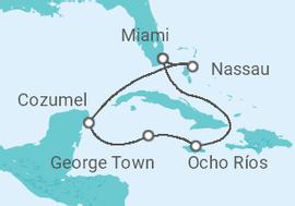 Itinerario del Crucero Cuatro joyas que explorar + Miami - MSC Cruceros