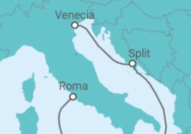 Itinerario del Crucero Croacia + Roma + Venecia - MSC Cruceros