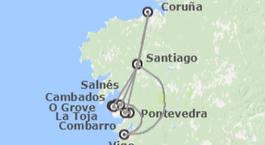 Galicia: Costa de Galicia con Santiago