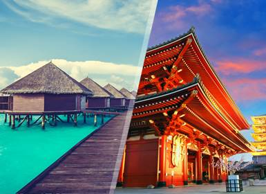 Viajes Islas del Índico y Japón 2019-2020: Combinado Tokio y Maldivas
