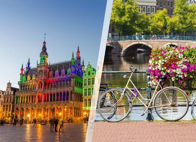 Viajes Bélgica, Holanda y Países Bajos 2019-2020: Bruselas y Ámsterdam en tren
