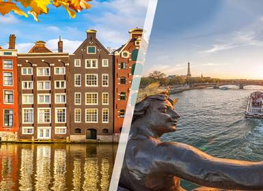 Viajes Francia y Países Bajos 2019-2020: Combinado París y Ámsterdam en tren