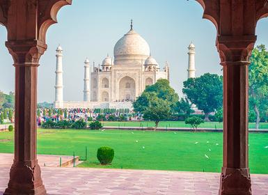 Viajes India 2019: Triángulo Dorado con Descubre nocturna al Taj Mahal