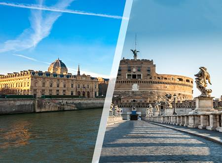 Viajes Italia y Francia 2019: Roma y París para solos y solas